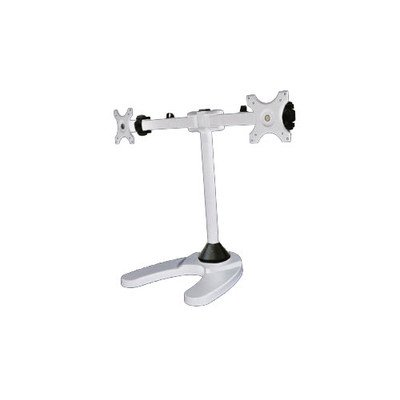 """Dual LCD Monitor Stand Free Standing w// Weighted Mount up to 24/"""" monitors"""