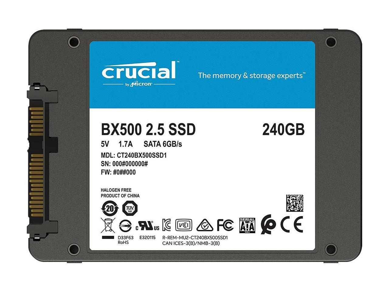 Details about Crucial BX500 240GB 3D NAND SATA 2 5-Inch Internal SSD -  CT240BX500SSD1Z